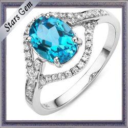 Semi Precious hermosa Swiss Natural azul topacio para joyería