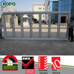 Двойные стекла на наружные двери Bifold, пластиковые складные двери