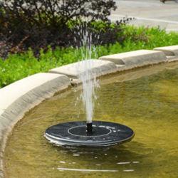 Bain d'oiseau solaire extérieur Fontaine à eau pour la pompe de piscine, jardin, Kit de pompe d'Aquarium pour bain d'oiseau étang de jardin 1Définir
