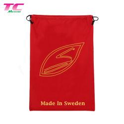 Sacchetto di polvere economico del cotone del Drawstring spalla elegante di colore rosso di alta qualità della singola