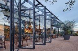 Großer hoher Panel-Glasaluminiumpatio-Bifold Tür mit dem bereiften Glasieren oder den Vorhängen
