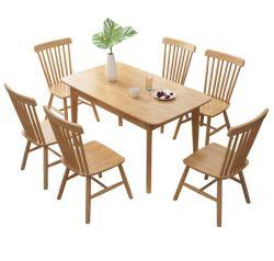 Sala de jantar Restaurante Hotel Jantar banquetes Mesa Quadrada de mobiliário de eventos de casamento com madeira topo