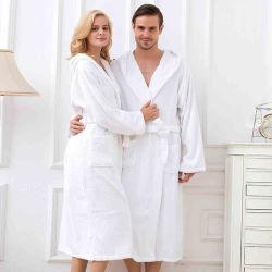 Luxueux Toweling 100% coton Terry col châle Peignoir unisexe