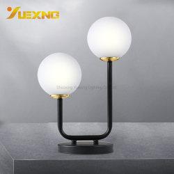 La moderna pequeña bola de cristal negro G9 Max40W Lámpara de mesa blanco cálido para lámpara de mesa Sala de estar junto al bar del Hotel Luz de lámpara de escritorio