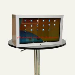"""22"""" LCD de pantalla de verificación publicidad transparente/Nuevo diseño de la pantalla LCD transparente con pantalla táctil de Multimedios/network/Standalone"""