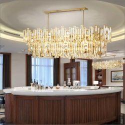 Licht van de Kroonluchter van de Tegenhanger van het Project van het Hotel van de luxe het Post Moderne Gouden in K9 Kristal, voor Hal, Restaurant, Woonkamer