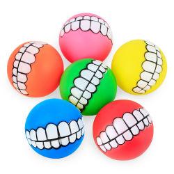 Cachorro Perro pelota PVC dientes masticar sonido juguetes novedad divertida mascota producto