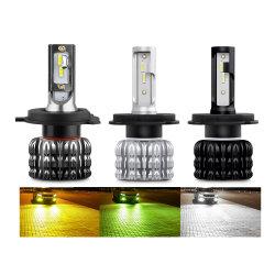 Marcação RoHS K1 CREE 16000LM amarelo âmbar Cor Verde Ventiladores H4 9007 H7 carro farol de LED para automóveis