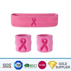 Prime d'usine Logo personnalisé élégant brodé 100% coton Terry bandeau antisudation respirante serviette No-Slip sports Basket-ball bracelet de coton et à l'arceau