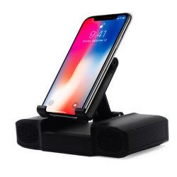 2019極度の熱い工場販売法の10400のmAh極度の効率的な力バンクの充電器が付いているユニバーサルデスクトップの無線Bluetoothのスピーカーの/Cellの電話ブラケットのホールダー