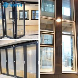 Ventana corrediza de aluminio al por mayor perfil de seguridad interior de la puerta de vidrio templado térmico de la partición de sistema de pared de cristal de la tienda