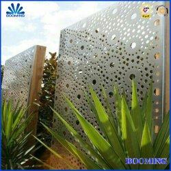 Außenaußenaussehen-schnitt externer Entwurfs-Aluminium-Laser Architekturgarten-Metallblatt-Zaun für Partition-Verteilung-Wand-Hotel-Garten