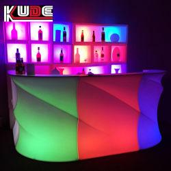 Commerce de gros de meubles en plastique conduit comptoir de bar bar Table