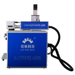 Rayfine RaycusセリウムおよびFDA Cetificateが付いている最大20W 30W 50Wの小型金属のファイバーCNCレーザーのマーキングの彫版の打抜き機