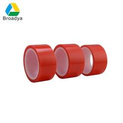 Doppeltes versah Mopp-rotes Polyester-filmischer freier Klebstreifen mit Seiten (BY6965R)