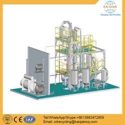 La refinación del aceite de motor usado negro de la máquina para la regeneración de aceites de base