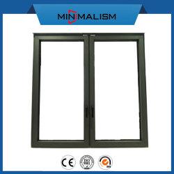 Negro de aluminio toldo corredizo/Inclinación y gire a la puerta para proyecto de construcción