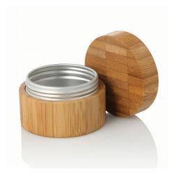 20g 30g 40g 50g 60g de 70g 100g 120g 150g 200g 250 g de crema de pelo Cuidado de la piel de metal contenedor té Lata Frasco de aluminio cubierto el bambú