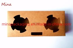 Dos tazas de la junta de papel Kraft Portavasos