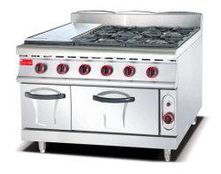 음식과 BBQ 요리를 위한 과자 굽는 번철을%s 가진 직업적인 서 있는 4 가열기 가스 Range& 가스 스토브