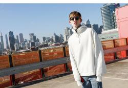 Оптовая торговля пользовательские вышивка флис хлопок обычный домашний мужчин Pullover Hoodies