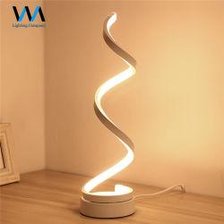 De nouveaux produits 24W Spirale moderne Wall Lamp LED lampe de table de chevet