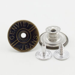 ジーンズのための卸し売り上の方法金属のジーンズボタン
