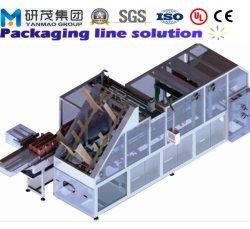 Autour de cas de liage automatique boîte en carton<br/> Packer Machine avec l'érection et d'étanchéité pour du papier absorbant humide