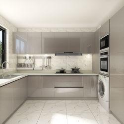 Un style moderne Oppein Laque gris 2 cip brillant de qualité les armoires de cuisine (OP18-L02)