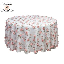 Nappe de fleurs en mousseline Annielu Organza mariage Chiffon de table