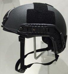 De zwarte Helm van het Bewijs van de Kogel van Nomex van de Kleur Snelle met het Niveau van Nij Iiia voor Militaire politie