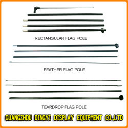 Aluminium / Publicité de plein air en fibre de verre Teardrop /Beach Flag Pole
