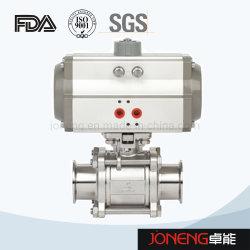Commestibile sanitario ad alta pressione igienico dell'acciaio inossidabile valvola a sfera delle tre parti (JN-BLV2009)
