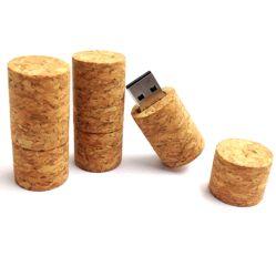 Stopfen U Disk/USB Pen Drive aus Natursynthetischem Kork Mit Weinflasche