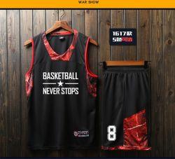 Serviço de OEM de impressão por sublimação térmica total design livre de uniformes de basquete Basquete Personalizada Camisolas Quick Dry Desgaste de basquete