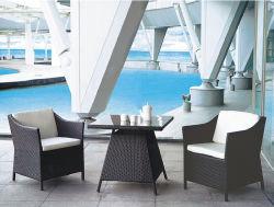 Populaire jeu de la mode du rotin Table à manger avec 4 chaises