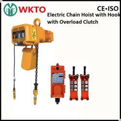 مرفاع السلسلة الكهربائية Mhtool 2t مع قابض انزلاقي للحمل الزائد لمعدات رفع الرافعة