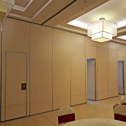 움직일 수 있는 칸막이벽 회의실을 미끄러지는 접히는 방음 능동태