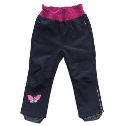 O desporto de alta Softshell Piscina Girl Pants /Calças respirável impermeável caminhadas Via para crianças