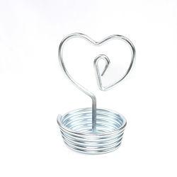Forme de coeur Cadeaux personnalisés pour l'amour de l'artisanat fait main Showcase accessoires en métal
