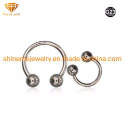 Herradura de titanio de alta calidad Carcasa de titanio de piercing Joyería del cuerpo TP1902