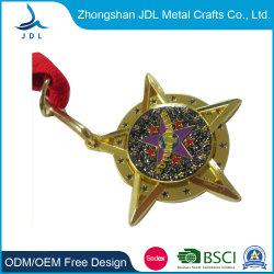 Старинные предметы антиквариата выбит Золотой лист Логотип туристических сувениров Sport Award медальон медаль подвес с лентой (294)
