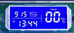 Kundenspezifischer Htn Stn FSTN negativer Blau LCD-Bildschirm mit weißer Hintergrundbeleuchtung