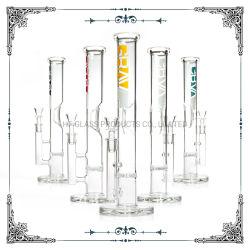 Grav 12 Polegadas Tubo de água de fumar de vidro cristal Base com espessura de tubos retos