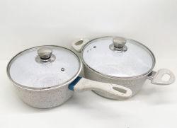Revêtement en marbre de haute qualité Non-Stick Cuisine Casseroles Set (ZH)