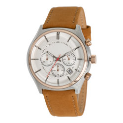 Regardez le commerce de gros cuir étanche 3 ATM montre à quartz pour les hommes