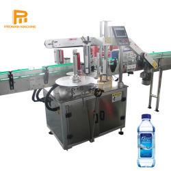 Flacon carré automatique minéral adhésif double face de l'eau potable l'autocollant de l'étiquetage de la machine