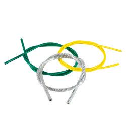 녹색 PVC 코팅 6 * 7 + FC 갈바니티드 강철 와이어 로프