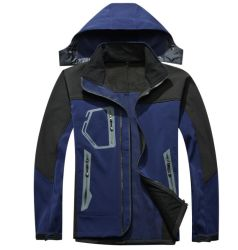 التزلج على الجليد في الهواء الطلق على الجليد من طبقة واحدة للرجال من قماش Fleece سترة واقية من الماء/مقاومة للرياح/سترة واقية ناعمة تسمح بمرور الهواء