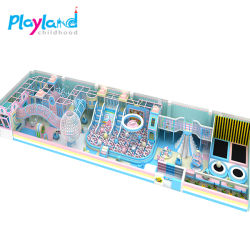 子供の屋内運動場の家の組合せのスライドのためのチャーミングな子供のおもちゃの強制収容所